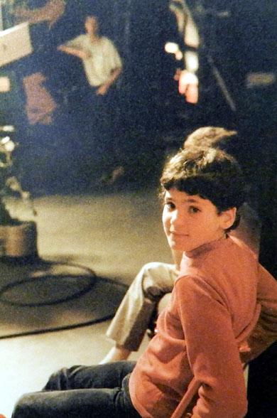Im TV-Studio 1985